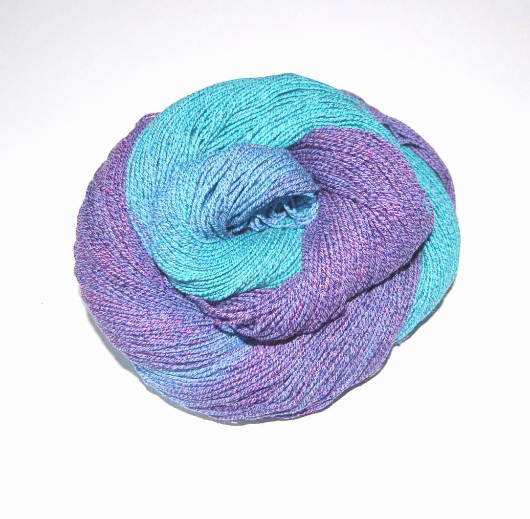 Sockenwolle Mit Baumwolle Und Seide Handgefarbt 100g Schon Fur Die Warmeren Tage Baumwolle Seide Und Socken