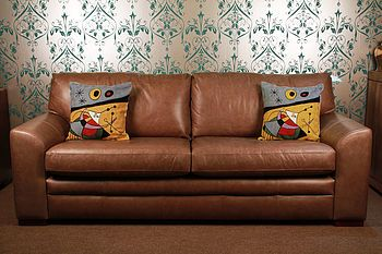 Hockley Designer Leather Sofa By Vintageleathersofas Notonthehighstreet
