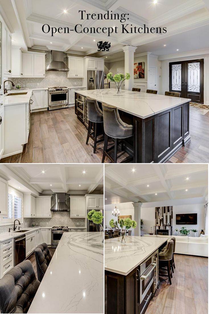 open concept kitchens are perfect for entertaining especially with a beautifully expansive island