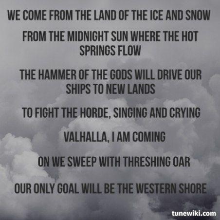 Led Zeppelin Immigrant Song Remember When Kenny Aronhalt Sang