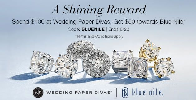 Spend 100 On Wedding Paper Divas And Get A 50 Coupon To Blue Nile Use