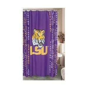 Belle View 9824 Lsu Tigers Shower Curtain Shower Curtains Walmart Curtains Lsu