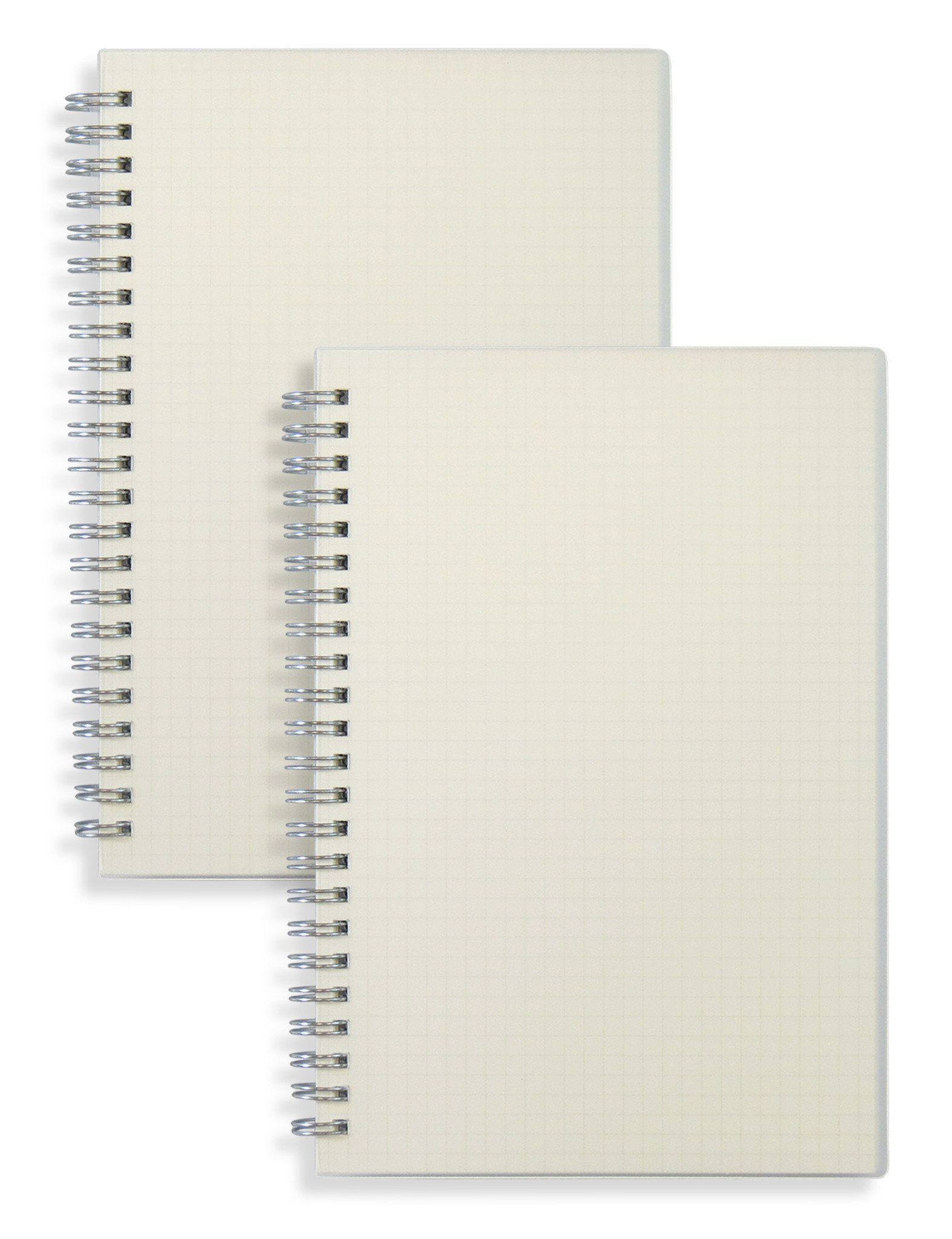 Transparent Hardcover A5 Size Spiral Notebook(Square Grid) | Dot