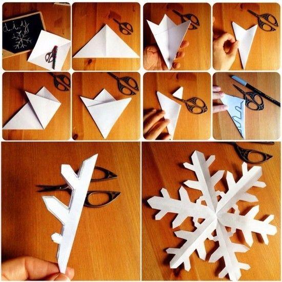 Schneeflocken basteln - 2 Anleitungen und 40 Ideen #sternebastelnmitkindern