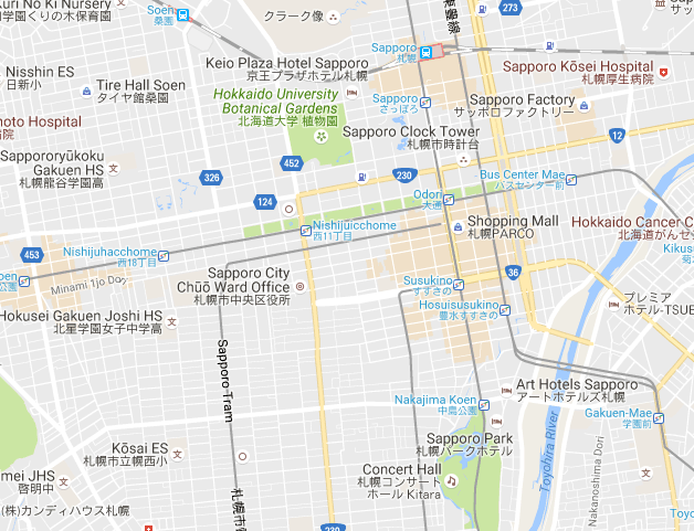 Sapporo Craft Beer Map This map of craft beer bars in Sapporo is a