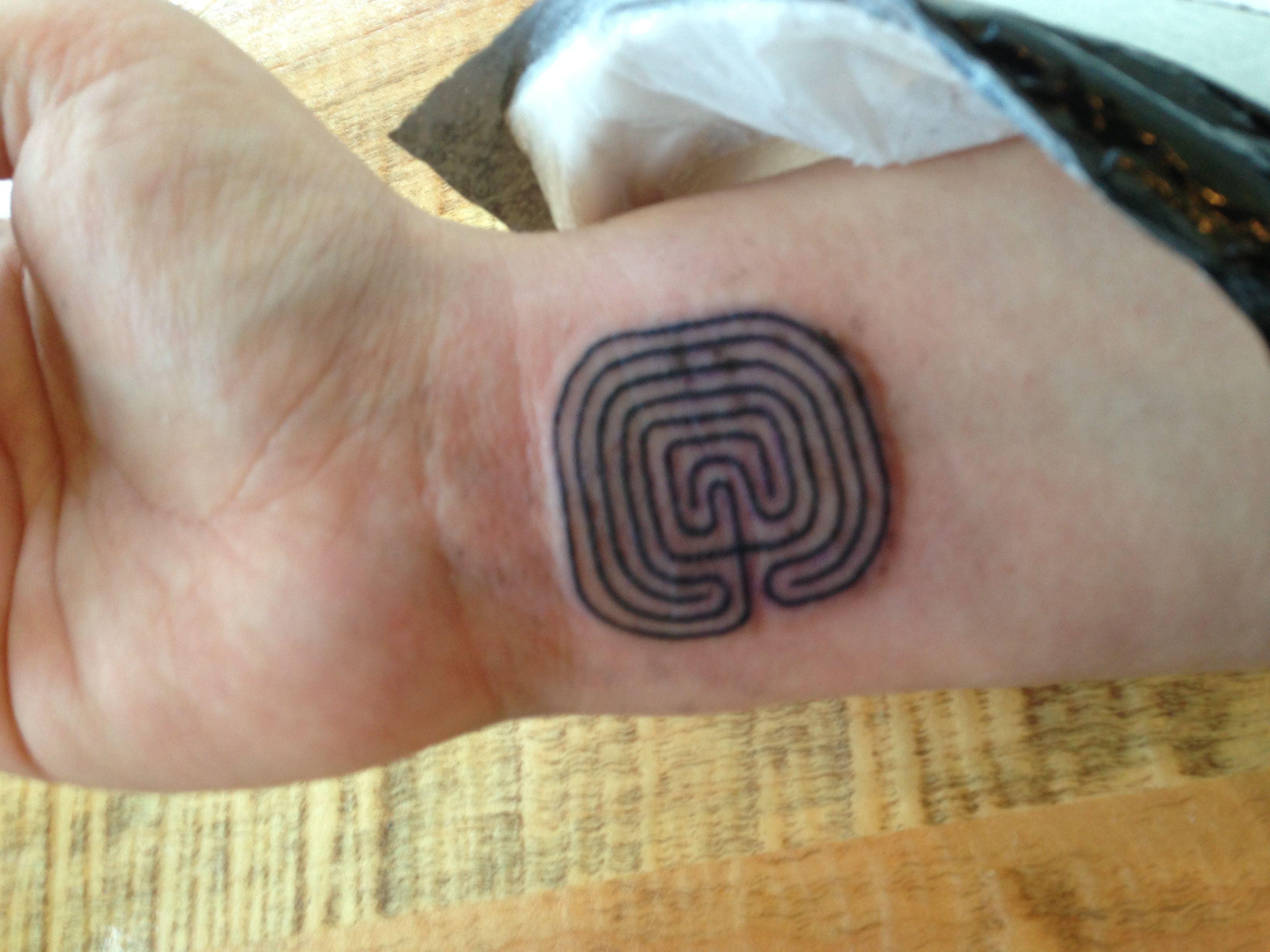 Labyrinth Tattoo On Wrist