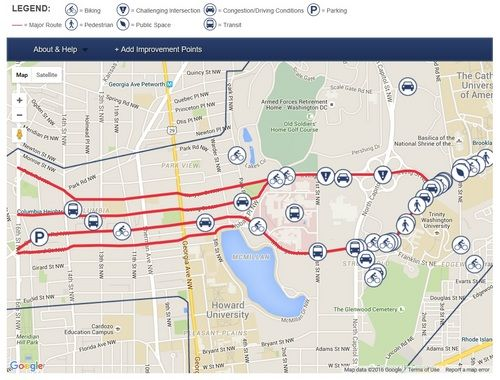 Use This Map To Share Your Ideas For Better East West Travel Across Dc Map Travel Travel Maps