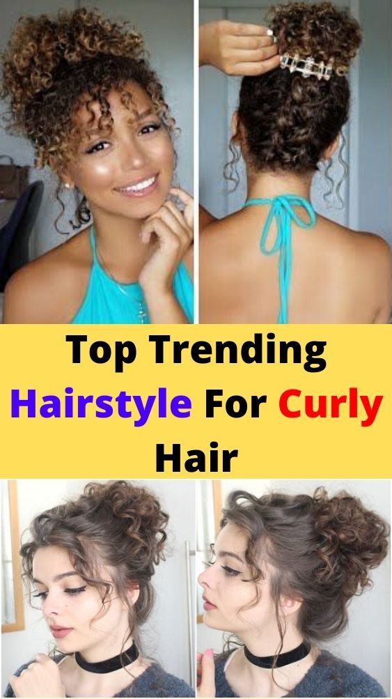 Easy Hairstyle For Curly Hair Step By Step in 2020   Curly ...