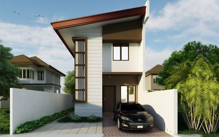 Small Home Design Plan 6 5mx12m With 3 Bedrooms Home Design With Plan Narrow House Designs 2 Storey House Design Narrow Lot House Plans