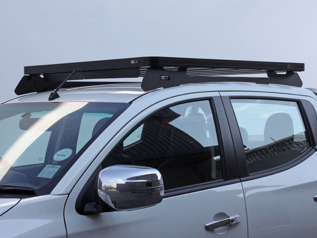 Mitsubishi Triton L200 5th Gen 2015 Current Slimline Ii Roof Rack Kit By Front Runner In 2020 Roof Rack Cargo Roof Rack Triton L200
