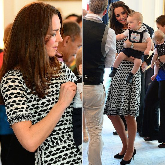 Kate-Middleton-Wearing-Tory-Burch-Black-White-Dress
