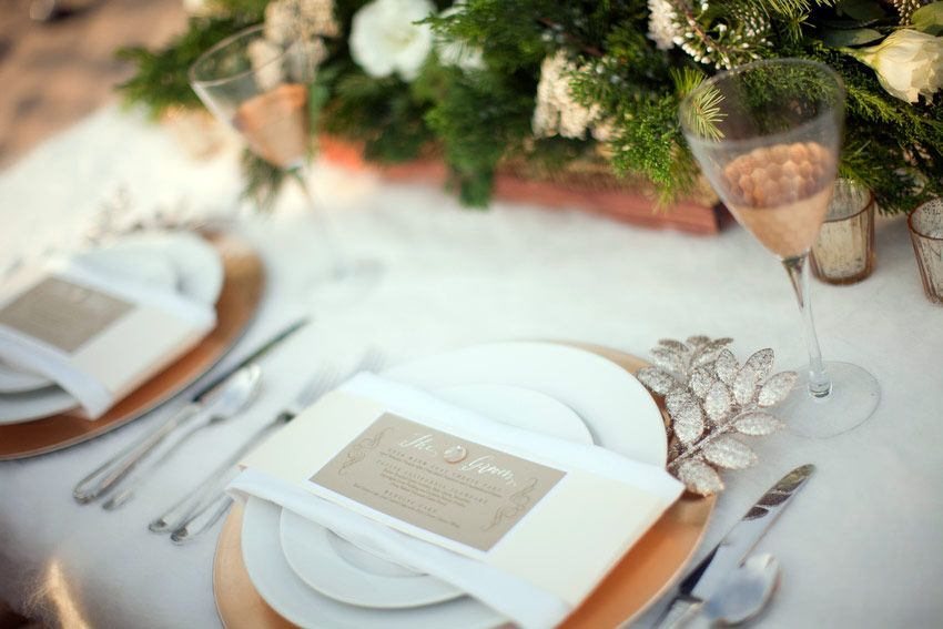 Jessica Claire Shoot Cozy Beach Wedding Nice Table Setting