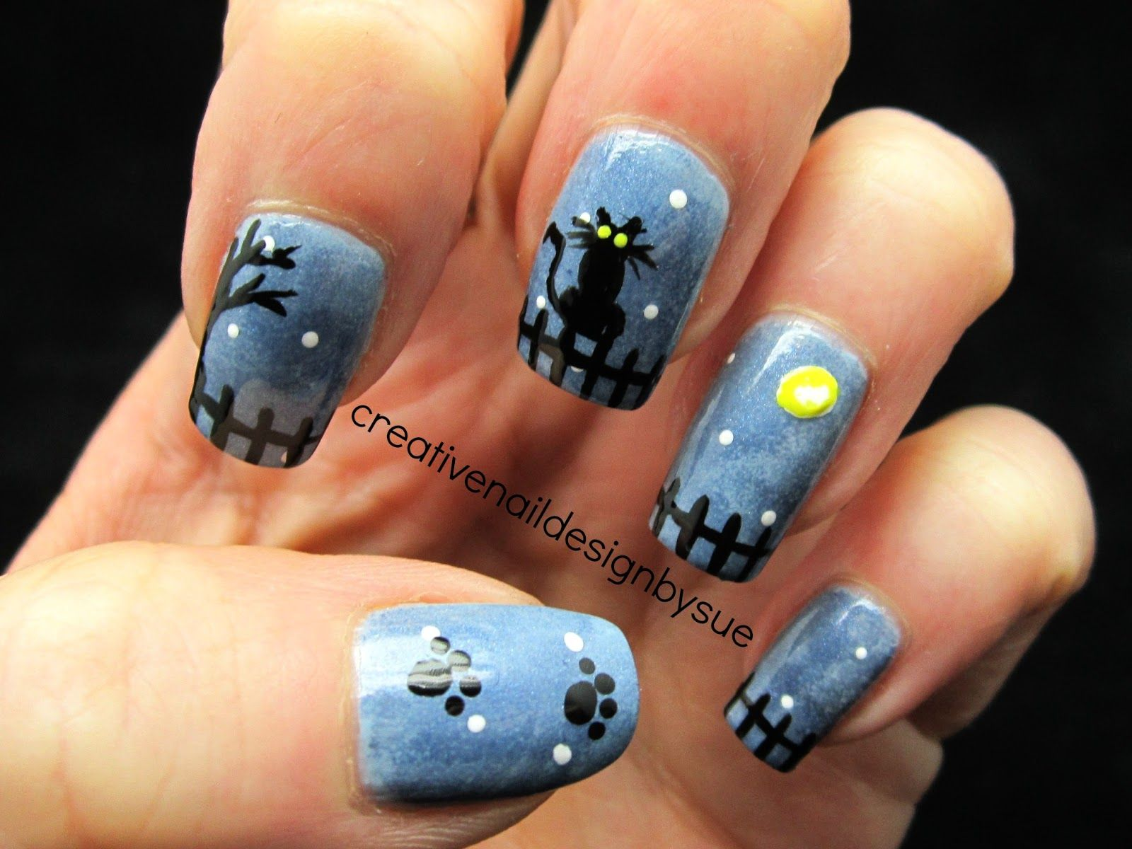 Creative Nail Design by Sue: Fall Into Autumn Challenge-Halloween ...