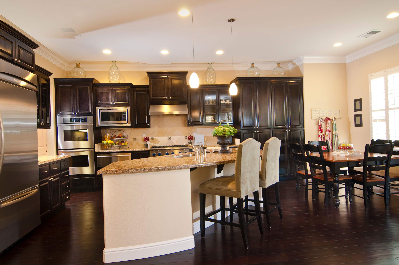 9 Kitchens with Dark Wood Floors Pictures   Dark kitchen, Wood ...