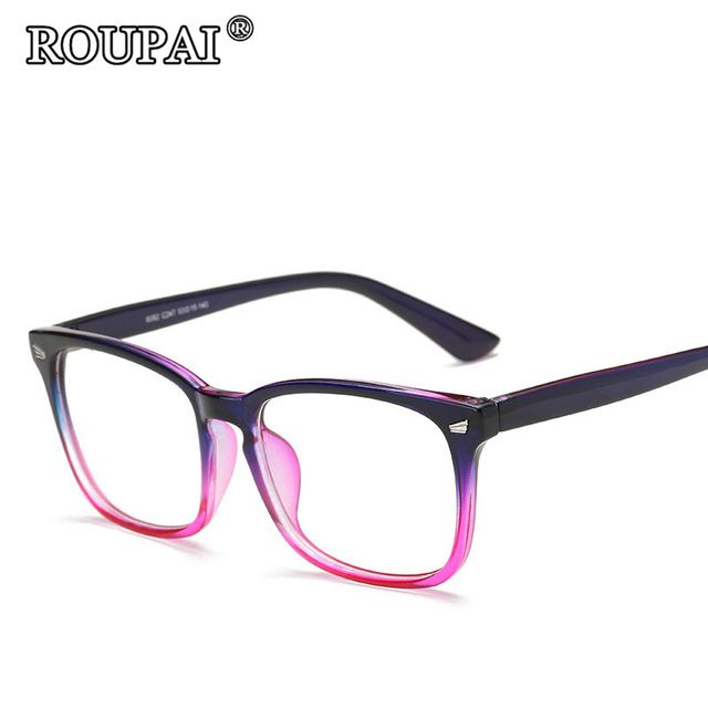 e260bdea38 ROUPAI 2017 Latest Trends Hipster Unisex Glasses Frame Vintage Retro Women  Men Clear Glasses Beautiful Frame Eyeglasses oculos