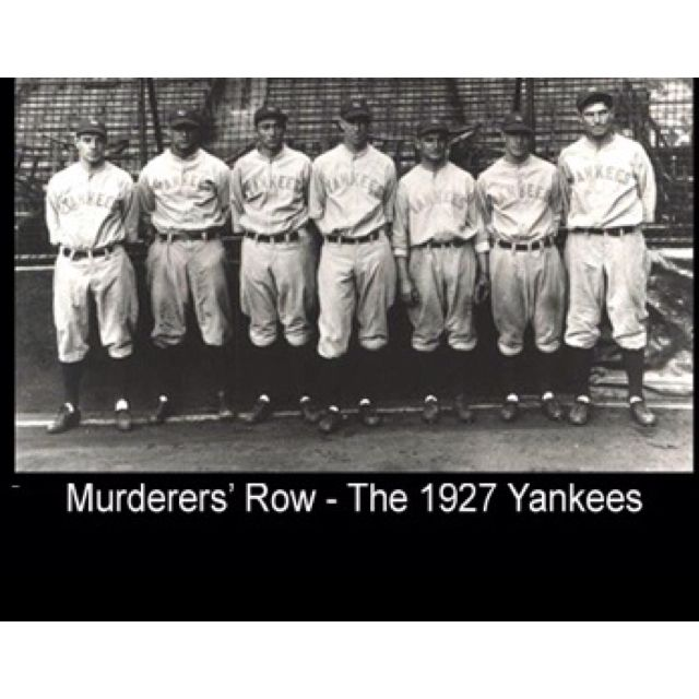 1bb6457192edf 1927 Murderers Row Yankees. 1927 Murderers Row Yankees Baseball Star