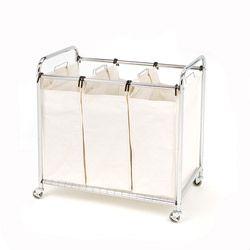 Seville Classics Premium 3 Bag Heavy Duty Tilt Laundry Hamper