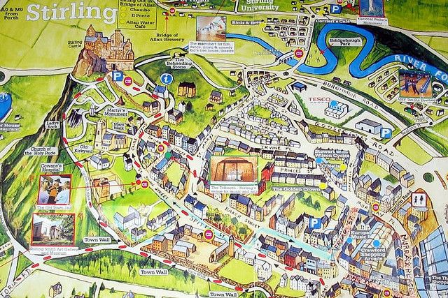 Map of Stirling city centre The Area We Live In Pinterest