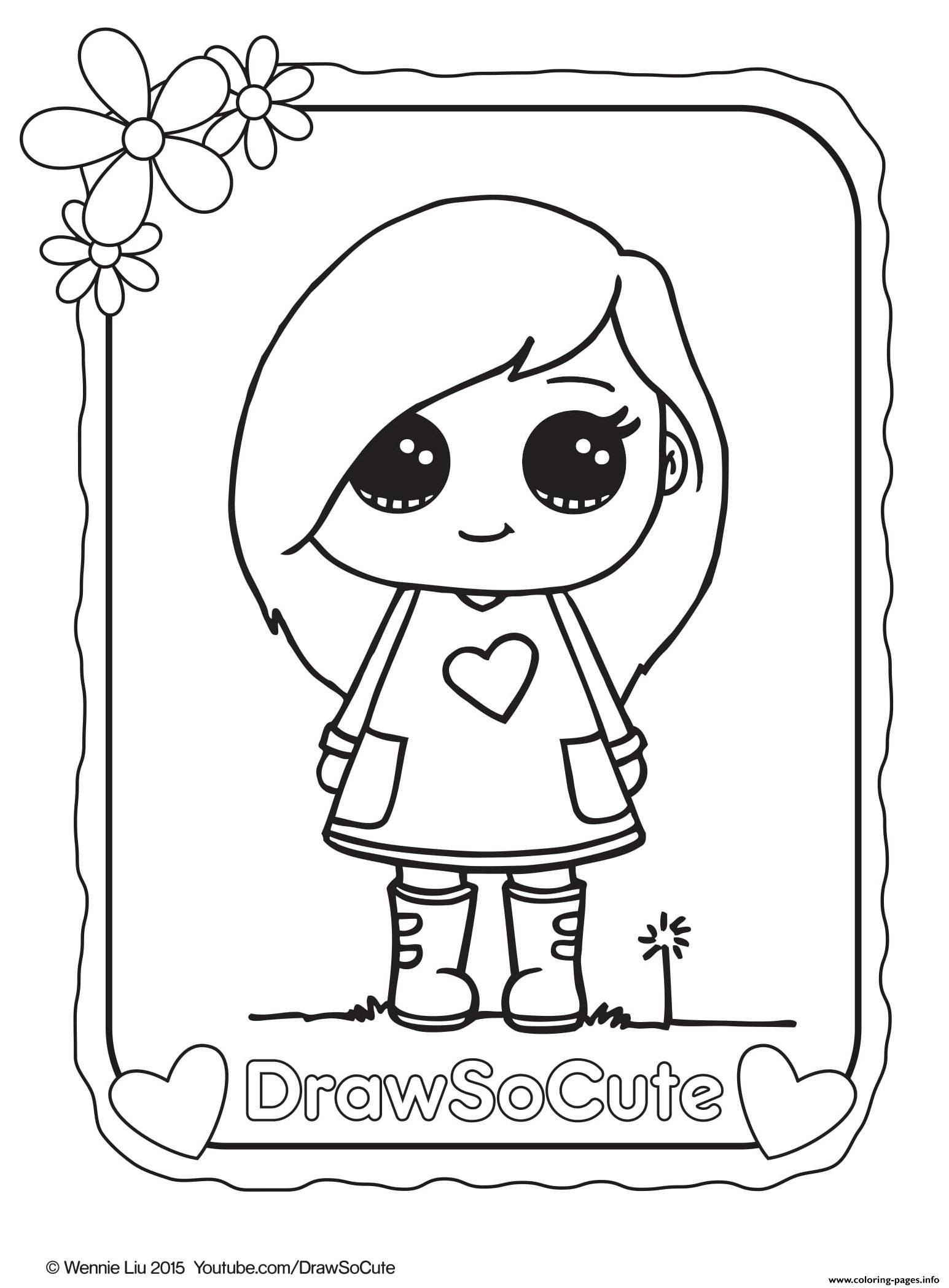 Cute Coloring Pages For Kids Coloring Pages Sophie Draw So Cute Coloring Printable Cute Coloring Pages Cute Drawings Coloring Books