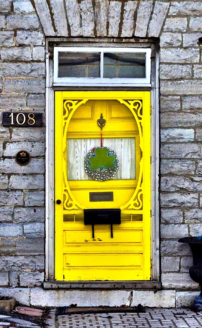 Bright yellow door in Kingston Ontario Canada & Kingston Ontario Canada | An Entrance | Pinterest | Kingston ... pezcame.com