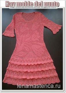Mis Pasatiempos  Amo el Crochet: Hermoso vestido de tulipanes