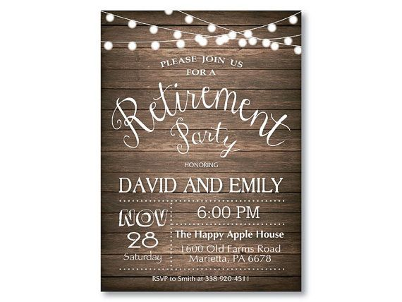 rustic retirement party invitation. by happyappleprinting on etsy, Party invitations