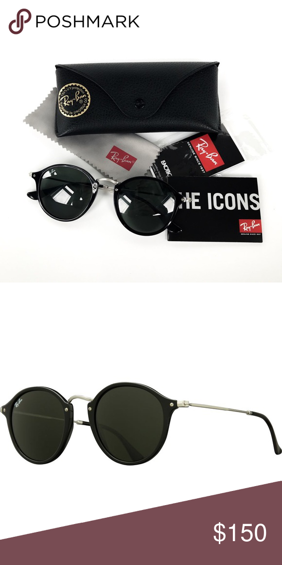 a29163c093 Ray Ban Round Fleck Sunglasses NWT however worn once but still in excellent  condition; no scratches Frame Style: ROUND Lens Material: glass Case or ...