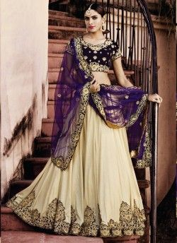 Shopping Women's Beige Pretty Circular Lehenga Choli