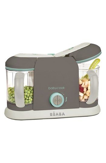9.4 Cups Dishwasher Safe BEABA Babycook Plus 4 in 1 Steam Cooker and Blender Cloud