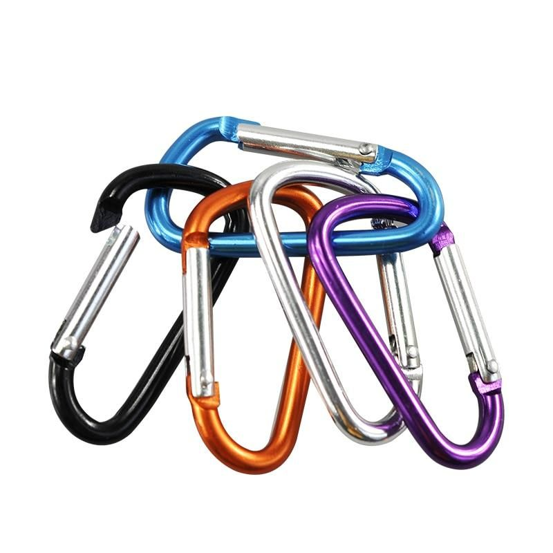 Safety Camping Hiking Hook Buckle Keychain Climbing Button Alloy Carabiner