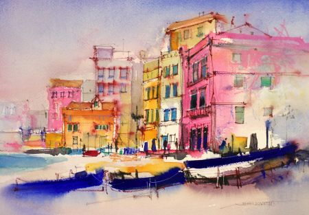 Sorrento By John Lovett Watercolor City Watercolor Art