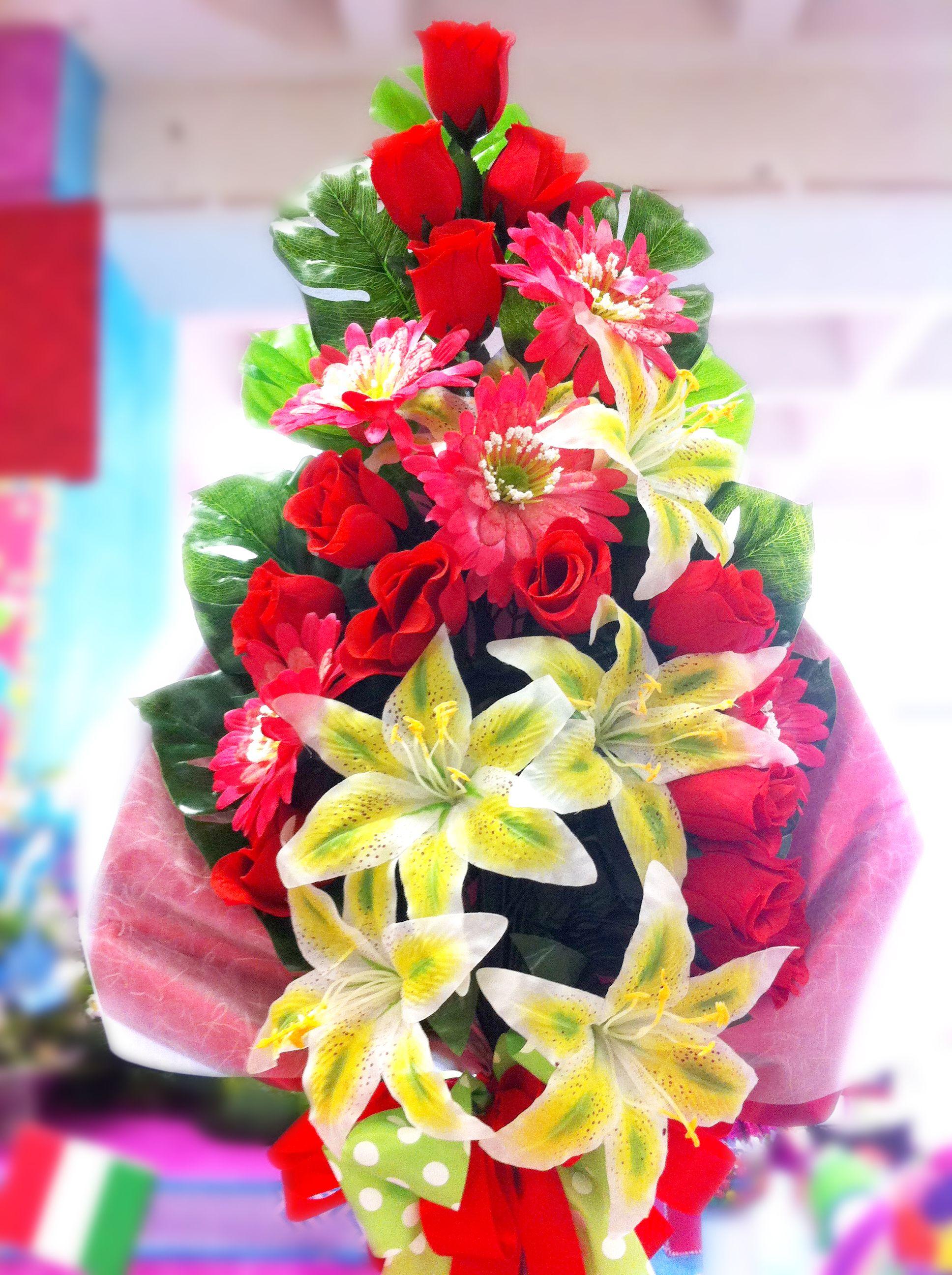 Arreglo De Flores Ramo De Rosas Día De Las Madres 10