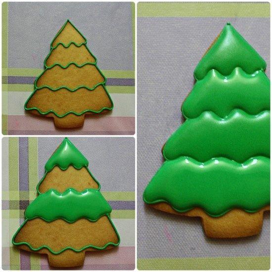 Christmas Tree cookie decorating