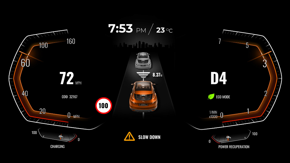 Ev Cluster Design For By Byd Auto On Behance In 2020 Cluster Instrument Cluster Auto