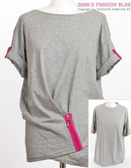 Draped T-shirt Refashion (Dana's Fashion Blog)