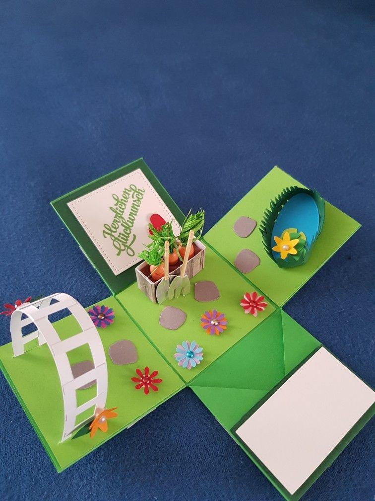 Explosionsbox Hochzeit Garten Basteln Geschenke Geschenkideen Geldgeschenke Geburtstag