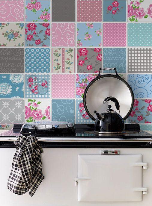 Losetas Adhesivas Baño | Patchwork Tile Stickers Carrelage Adhesif Tile Decals Stair