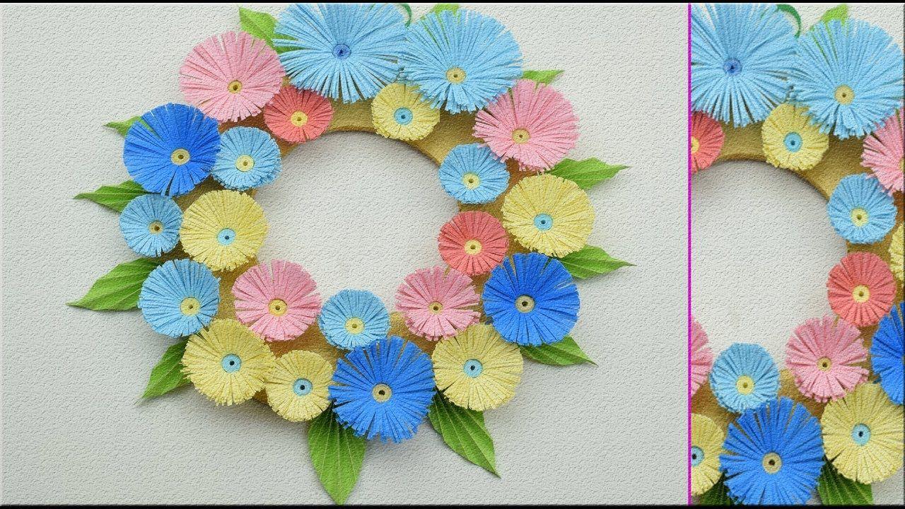 Decoration Ideas Paper Flower Wall Hanging  Arte Inspire