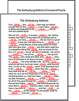 This site has resources for teaching The Gettysburg Address ...