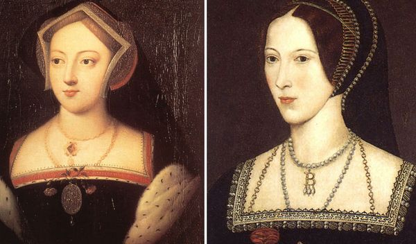 Photo of Sisters:  Mary Boleyn (former lover of King Henry VIII) and Anne Boleyn (future…