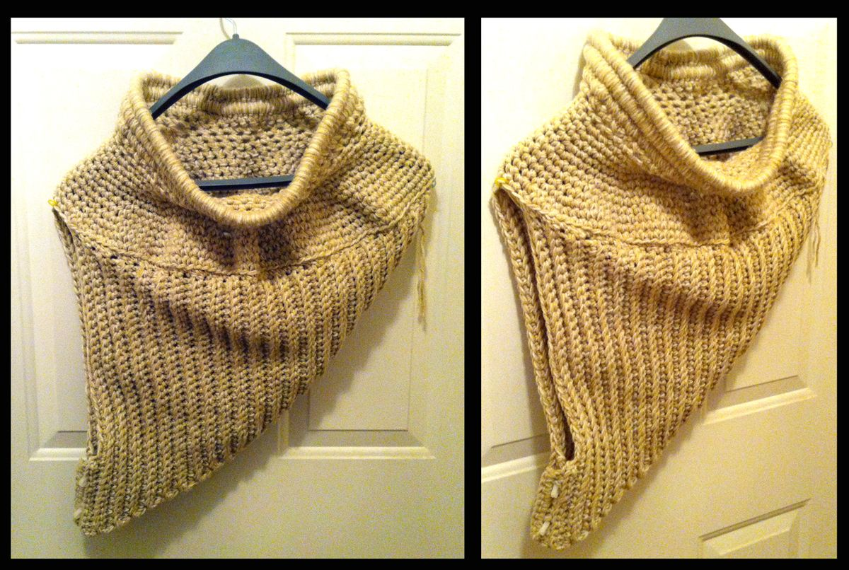 Free Pattern Asymmetrical Cowl Crochet And Knitting 2