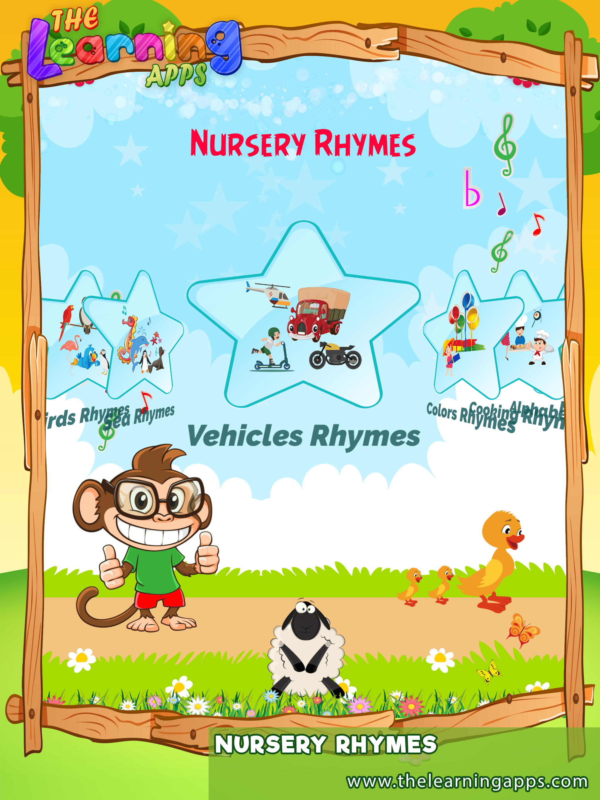 Let Your Children Listen To All The Nursery Rhymes Learn Nurseryrhymes Cars Animals Colors Kids Learning Listening