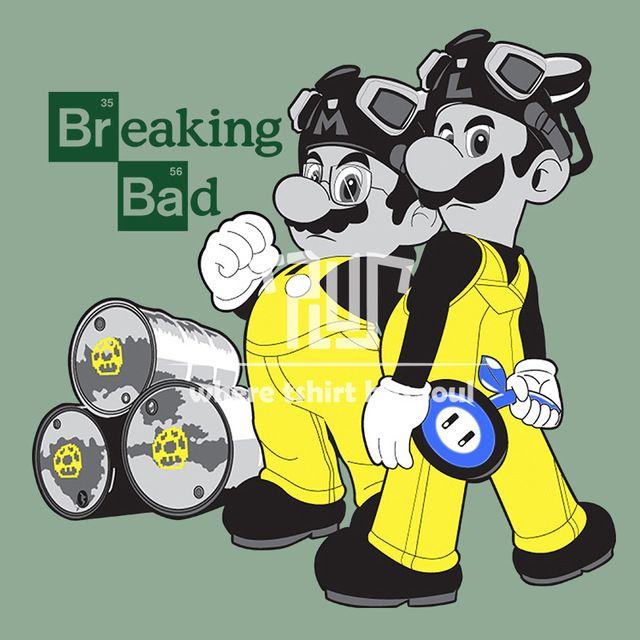 breaking bad mario style men tshirt o-neck 100% ring spun american cotton 180g short sleeve straight cut t shirt free shipping