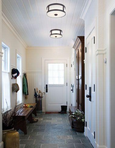 Overhead flush mount light in modern kitchen Lighting Pinterest