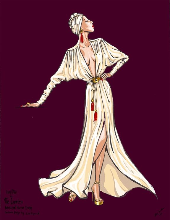 American Horror Story 6 Parla Lou Eyrich Costume Designer American Horror Story Fashion Illustration Fashion Sketches