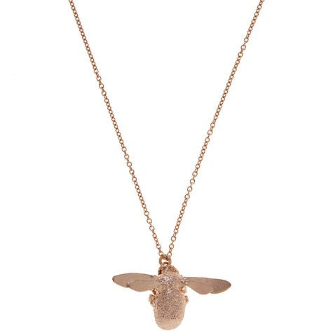 Gold Plated Sterling Silver (Vermeil) Bumble Bee Pendant Necklace with Intricate Details 3J8oKOgjm