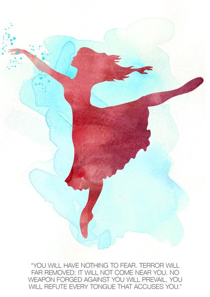 """Dancing Into Freedom""  Watercolor Print Complete Set of 4"