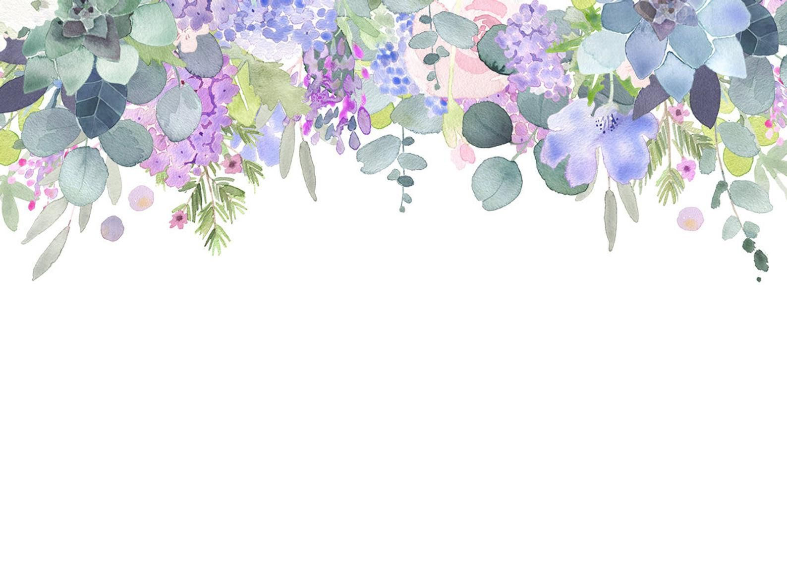 Lilac Roses And Succulents Floral Cliparts Lilac And Purple Watercolour Flower Clip Art Frames Circles In 2020 Flower Clipart Watercolor Flowers Purple Watercolor