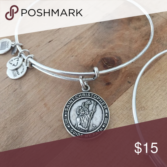 Alex&Ani St. Christopher Excellent condition. I like this as a gift for a little piece of luck for any new journey in life! Alex & Ani Jewelry Bracelets