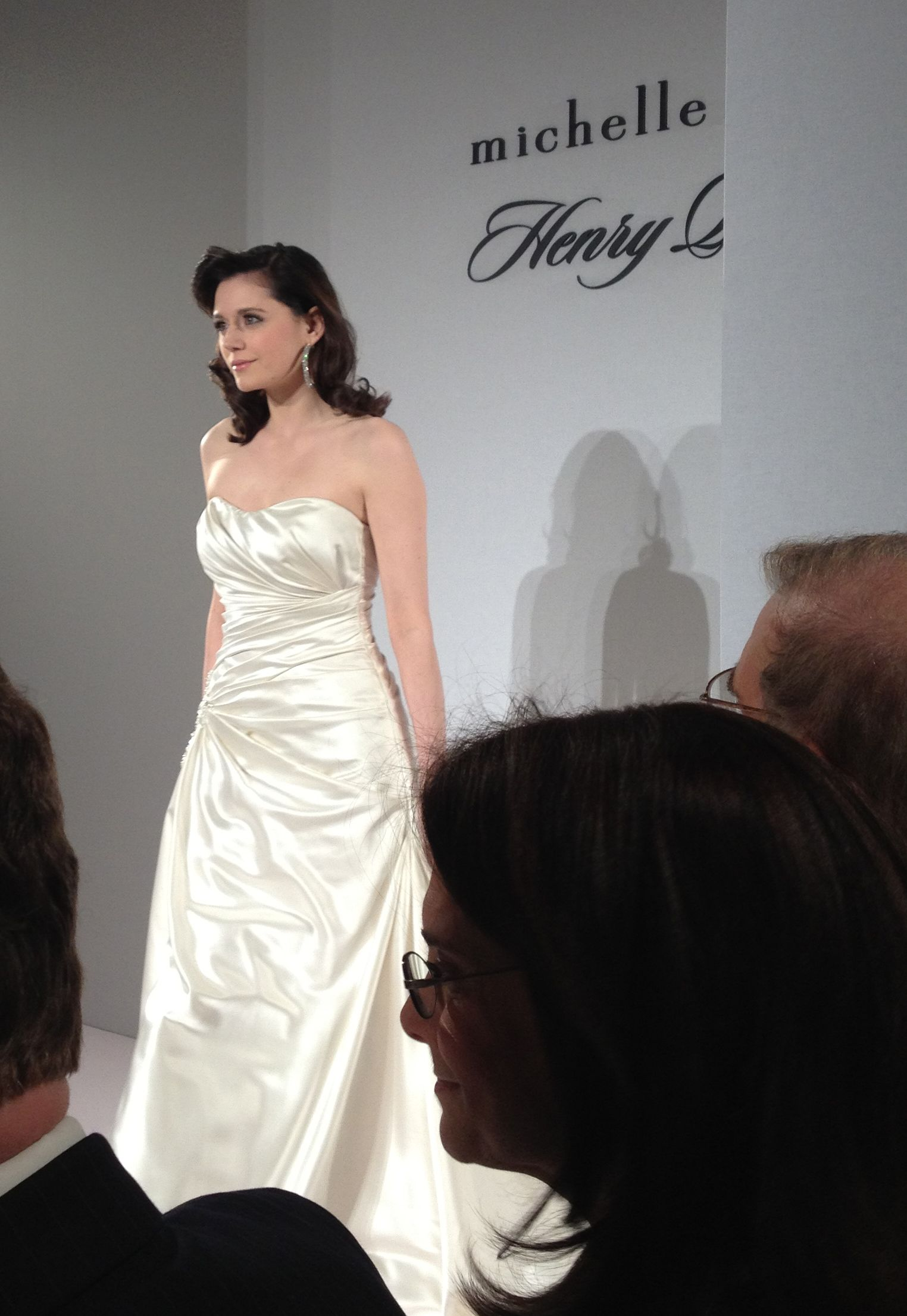 Here is a snap at a Kleinfeld private showing of Michelle Roth and Henry Roth designs. #Gorgeous #kleinfeld #runway #bridal #MichelleRoth #HenryRoth #weddinggowns